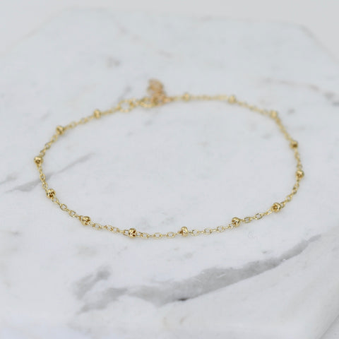 14K Gold Satellite Bracelet