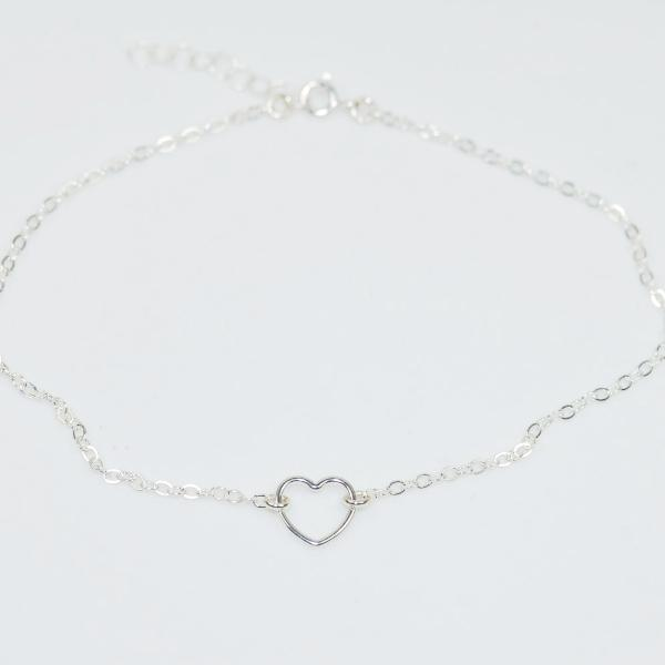 Dainty Heart Anklet - Sash Jewelry