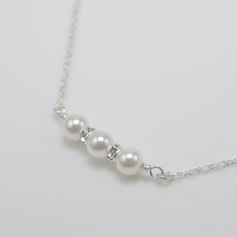 Flower Girl Pearl Necklace - Sash Jewelry