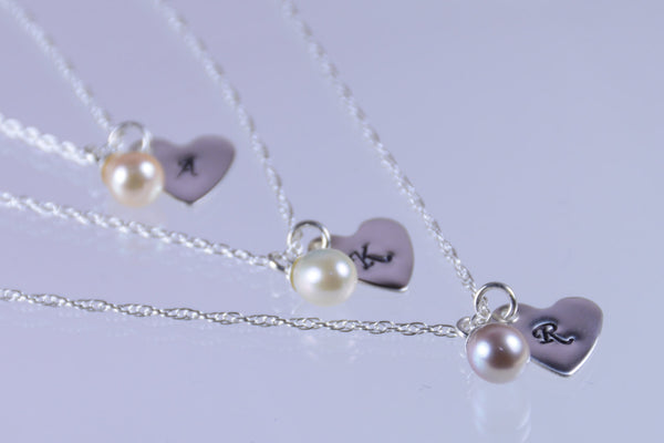 Bridesmaid gift - Personalized necklace - Sash Jewelry