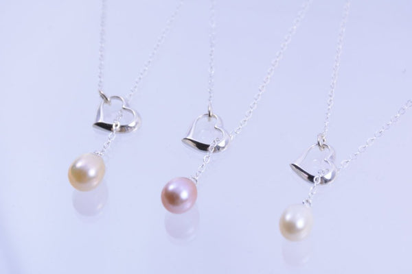 Bridesmaid Heart Necklace Set - Sash Jewelry