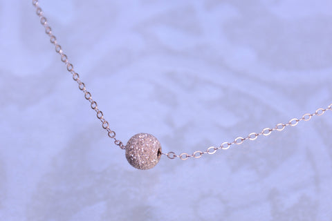 Rose gold stardust ball necklace - Sash Jewelry