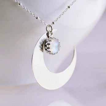 Crescent Moon Necklace - Sash Jewelry