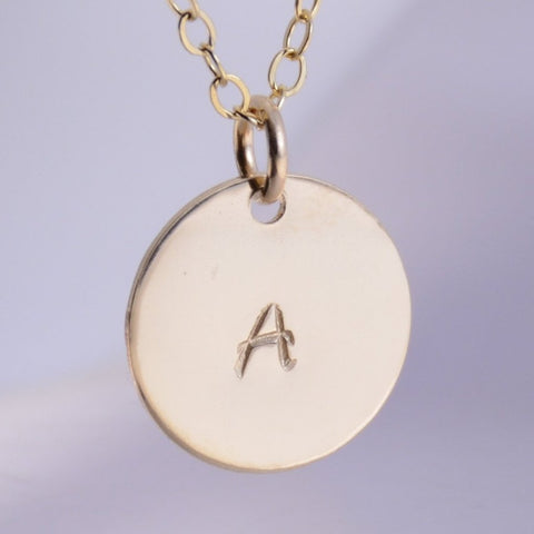 Gold Disc Necklace - Sash Jewelry