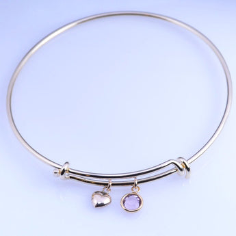 Adjustable Gold Bangle Bracelet - Sash Jewelry