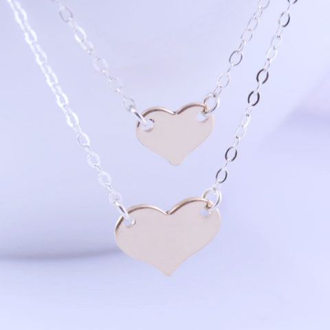 Mother Daughter Heart Necklace - Sash Jewelry