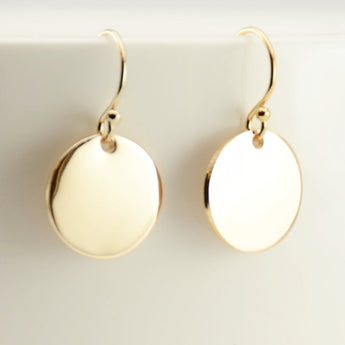 Tiny gold disc earrings - Sash Jewelry