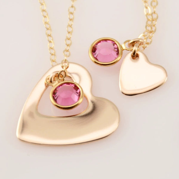 Mother Daughter Gold Necklace Set - Sash Jewelry