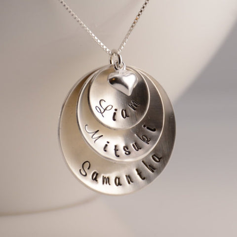 Personalized Mother Necklace - Sash Jewelry