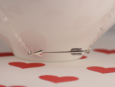 Valentine arrow necklace - Sash Jewelry