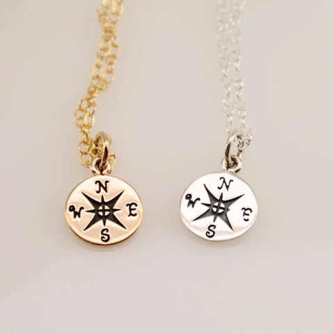 Compass necklace - Sash Jewelry
