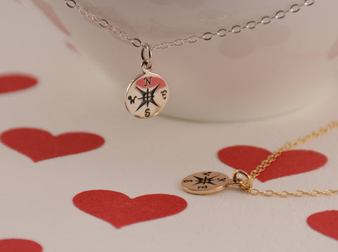 Friendship Necklace - Compass Necklace - Sash Jewelry