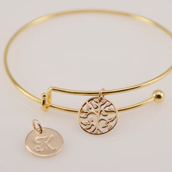 Tree of life bracelet. Gift for grandmother. Family tree jewelry. Removable charm bracelet - Sash Jewelry