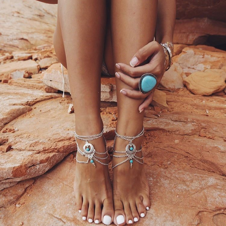 Turquoise Foot Jewelry