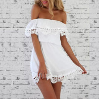 Slash Neck Beach Dress