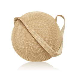 Zaha Round Straw Bag