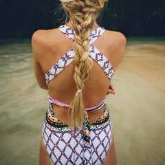 Tribal Crossed One Piece