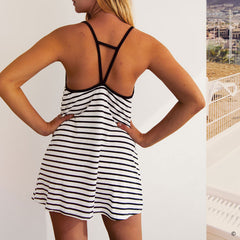 Striped Beach Mini Dress