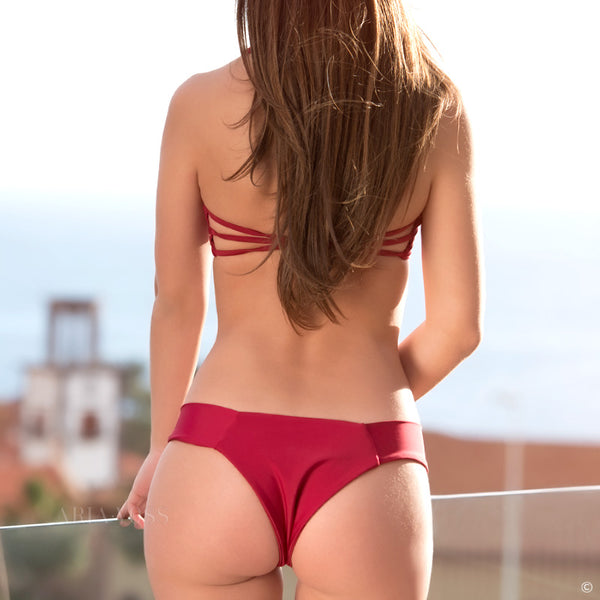 Wine Red Bandage Bikini