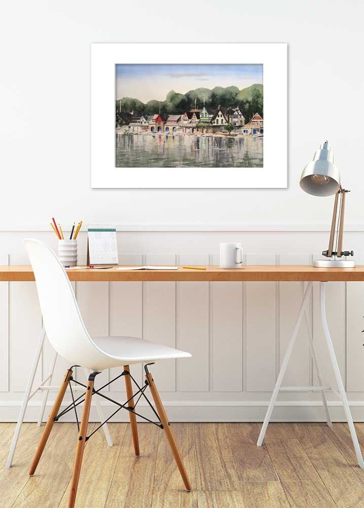 [page_title], Matted Print, Ellie Moniz Watercolor Artist