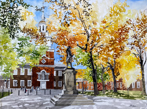 Behind Independence Hall