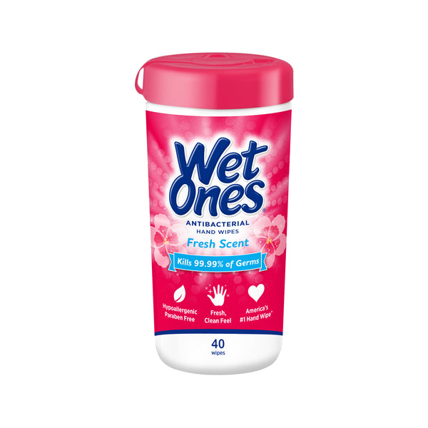 Wet Ones Antibacterial Hand Wipes Canister - Fresh Scent - 40 Wipes