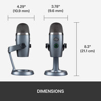 Blue Yeti Nano Premium USB Microphone for Recording and Streaming - Shadow Grey