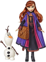 Disney Frozen Anna Doll with Buildable Olaf Figure & Backpack Accessory