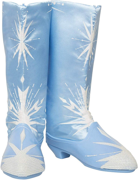 Disney Frozen 2 Elsa Travel Boots for Girls Costume or Role Play Dress-Up, Adjustable Backing Allows To Fit Most Girls - For Ages 3+