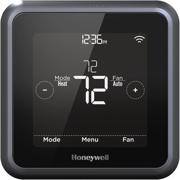 Honeywell Home T5 + Touchscreen Smart Thermostat with Power Adapter - Wi-Fi - Black