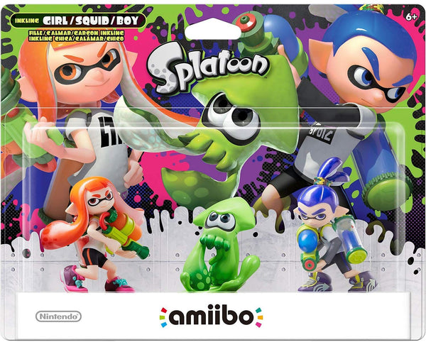 Nintendo Splatoon 3-pack Amiibo (Splatoon Series)