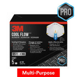 3M Cool Flow Face Mask Valved Respirator 8511 - N95 - 5 Pack