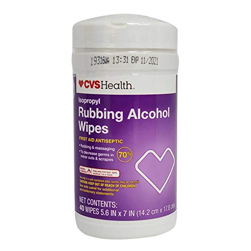 CVS Health, Isopropyl Rubbing Alcohol Wipes, 40 wipes