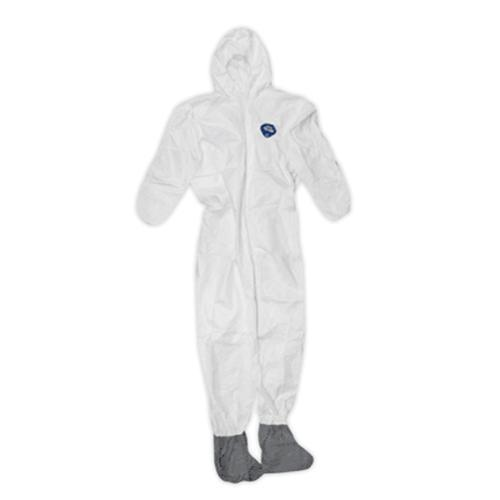 TRIMACO TYVEK COVERALLS WITH HOOD & BOOTS, (XL)