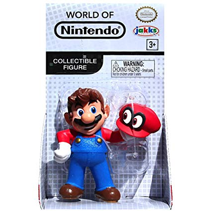 World of Nintendo Mario with Cappy 2.5 Inch Collectible Toy