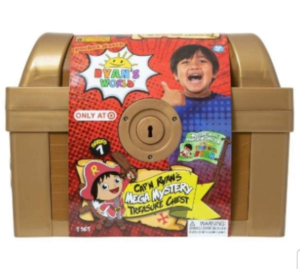Ryans World Exclusive Gold Mega Mystery Surprise Treasure Chest
