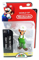 World of Nintendo Fire Luigi 2.5 Inch Collectible