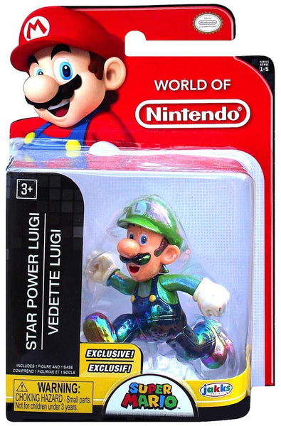 World of Nintendo Star Power Luigi 2.5 Inch Collectible Figurine