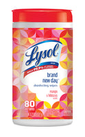 Lysol Disinfecting Wipes - Mango & Hibiscus, 80 Wipes (6 Pack Bundle)