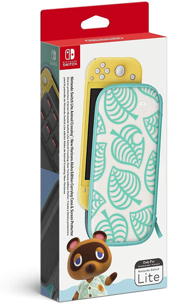 Animal Crossing: New Horizons Aloha Edition Carrying Case & Screen Protector - Nintendo Switch Lite