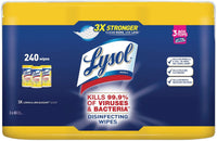 Lysol Disinfecting Wipes - Lemon/Lime Blossom -3 Canisters 240 Count