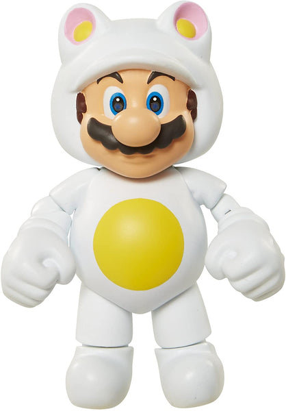 World of Nintendo, White Tanooki Mario 4 inch Figure
