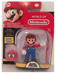 World of Nintendo Mario with Cappy 4 Inch