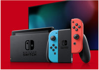 Nintendo Switch Console with Neon Blue and Neon Red Joy‑Con