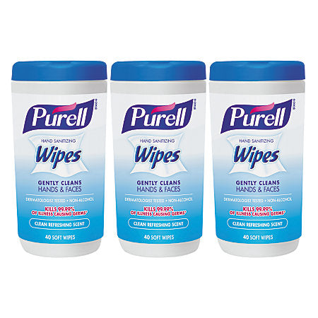 Purell Sanitizing Wipes, Clean Refreshing Scent - 40 Wipes (3 Pack)