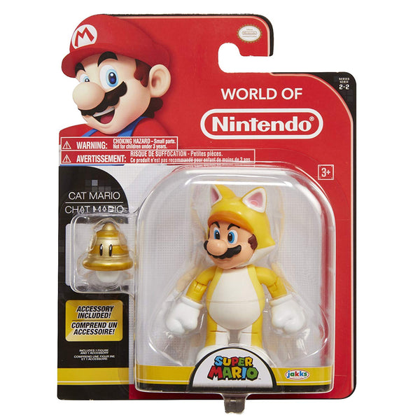 World of Nintendo Cat Mario 4 Inch Collectible