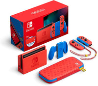 Nintendo Switch Console - Mario Red & Blue Edition with Carrying Case