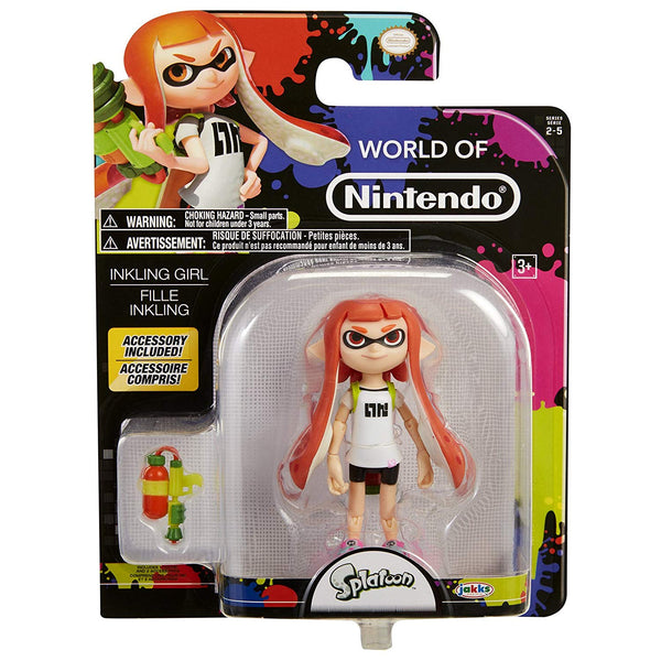 World of Nintendo Splatoon Inkling Girl 4 Inch Collectible
