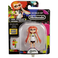 World of Nintendo Splatoon Inkling Girl 4 Inch with Splat Blaster Accessory