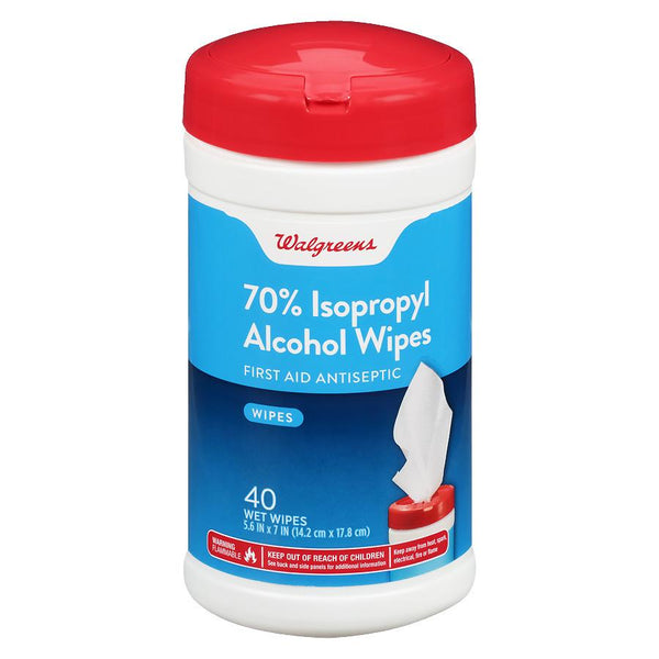 Walgreens, 70% Isopropyl Alcohol Wipes, 40 Wipes